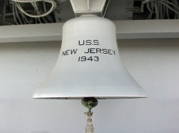 Large Ships Bell which hangs directly below the Flying Bridge (September 15, 2001)